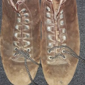VINTAGE FABIANO THE ALPS SUEDE HIKING BOOTS 12 1/2